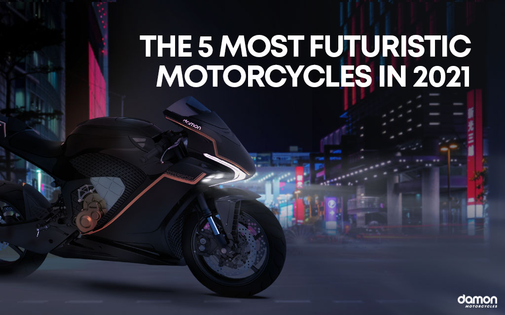 Futuristic Electric Motorcycle