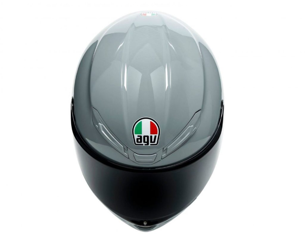 Gray 800AG Helmet from above