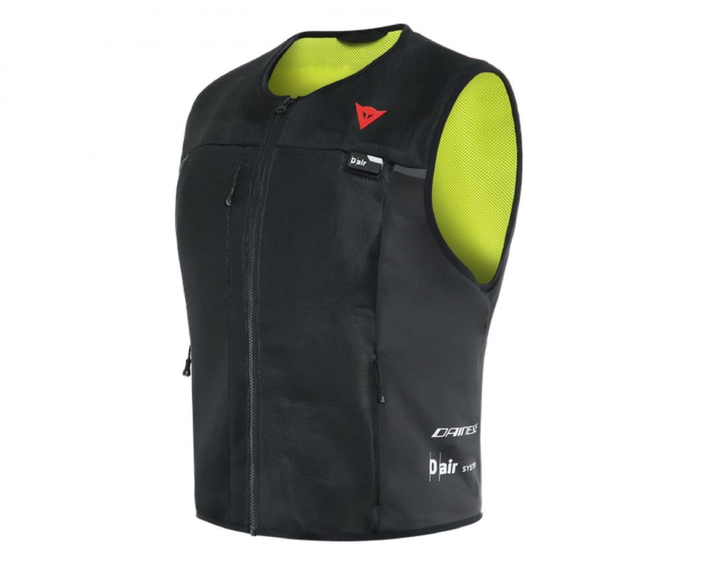 A Dainese D-Air Smart Jacket for motorcycle drivers