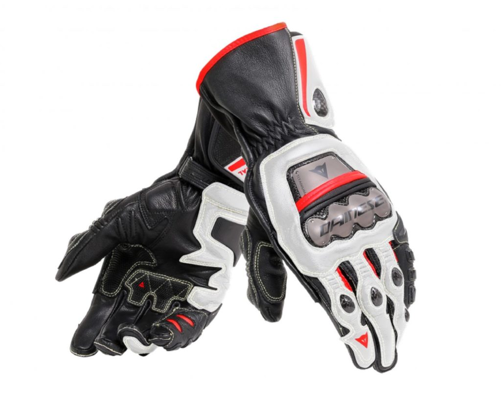 Par of Red and black Dainese Full Metal 6 Gloves
