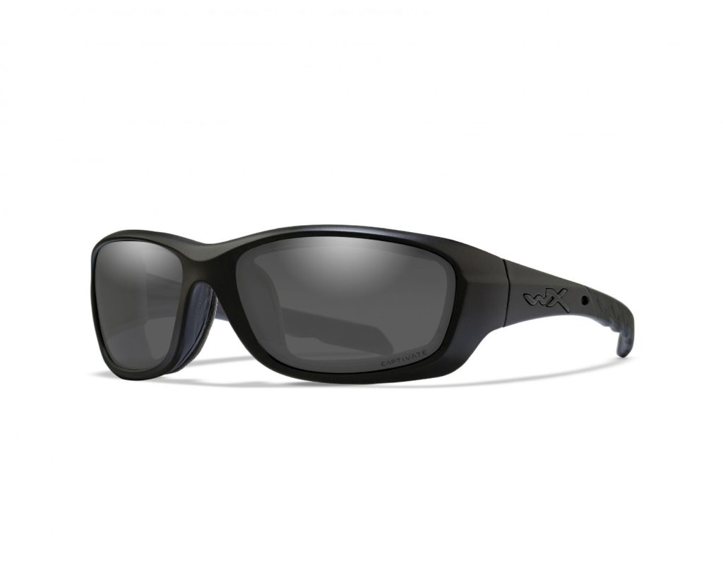 Render of black WX Gravity sunglasses for motorcycle drivers
