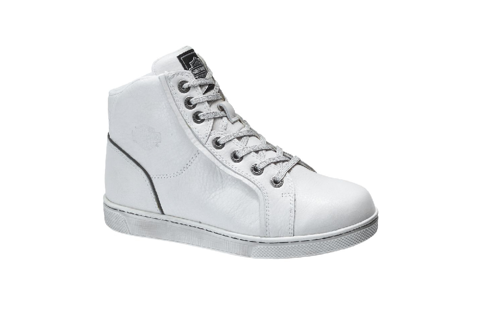 One white Harley Davidson sneaker for female motorcycle riders
