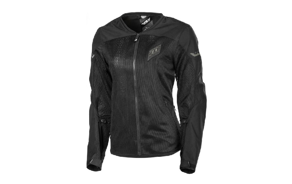 Black jacket reference Fly Racing Street Flux Air Brand for female motorcycle riders